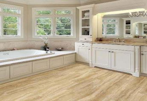 ivory travertine bath