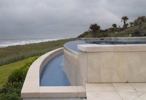 ivory travertine pool