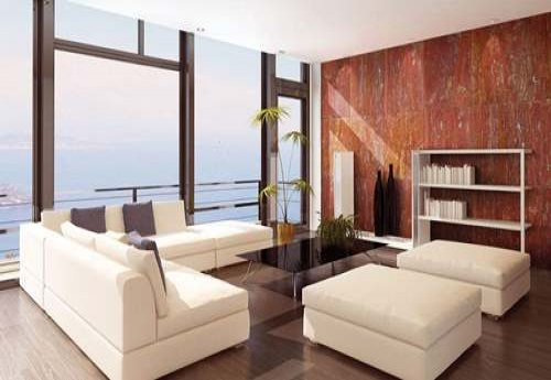 Red Travertine Design